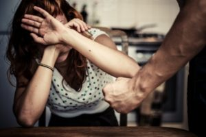 young woman is a victim of domestic violence